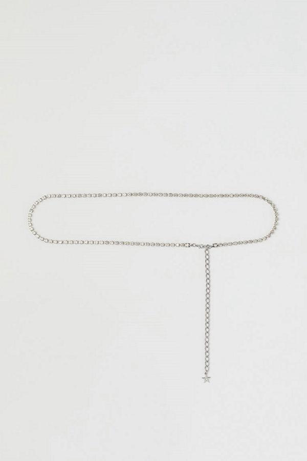 H&M Midjekedja silver