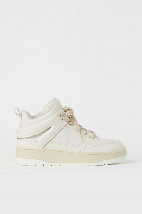 H&M Ankelhöga sneakers beige