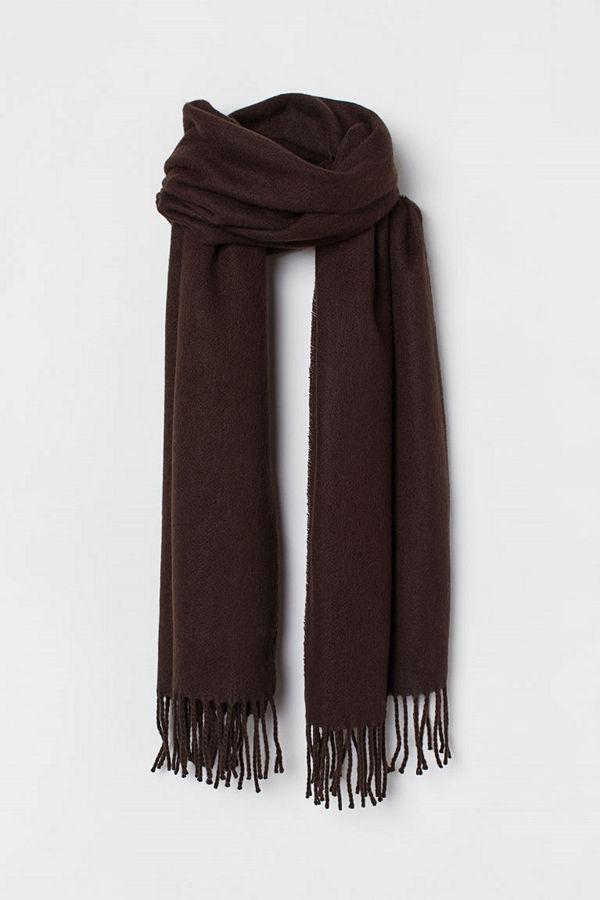 H&M Halsduk med fransar brun