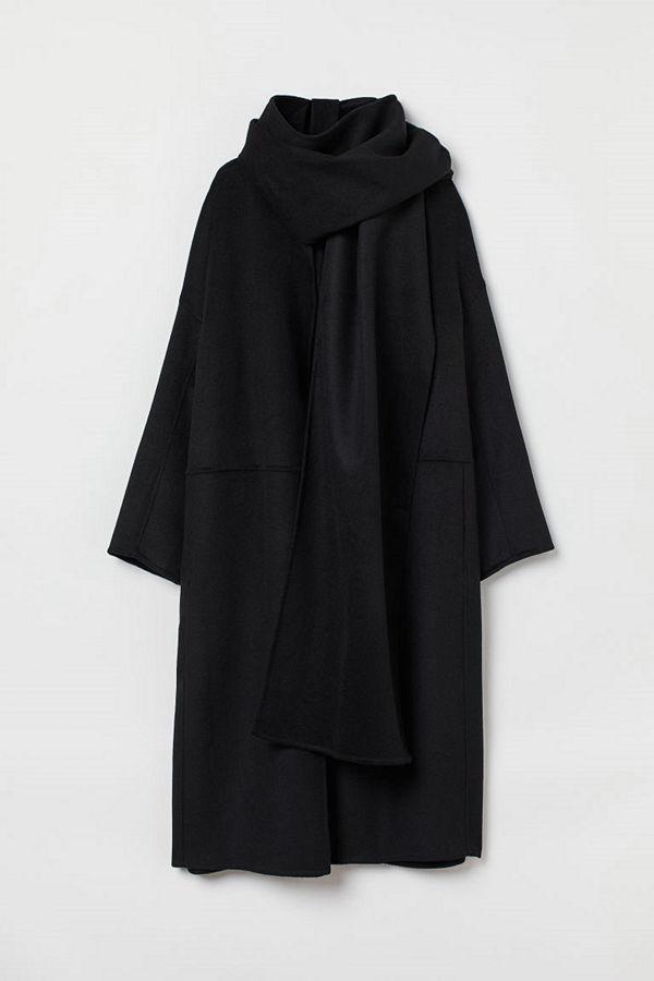 H&M Kappa i ullmix svart