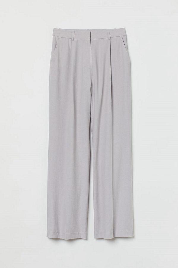 H&M byxor Vid byxa grå