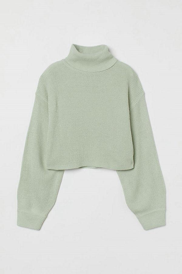 H&M Kort polotröja grön