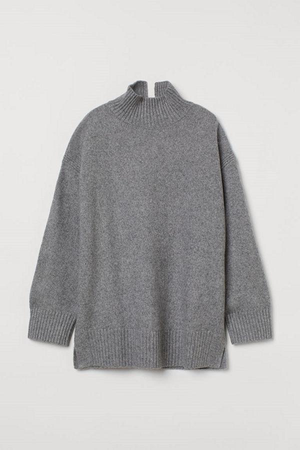 H&M Oversized polotröja grå