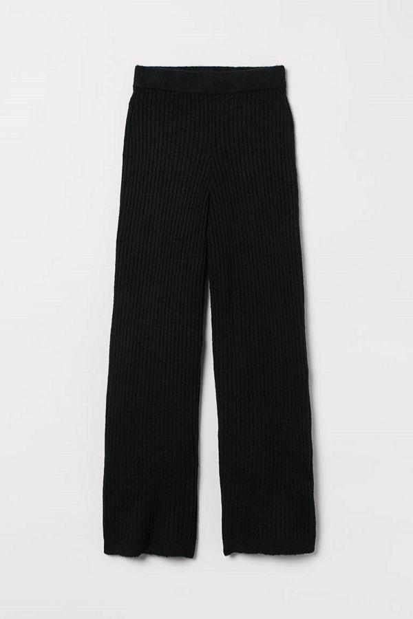 H&M byxor Stickad byxa svart