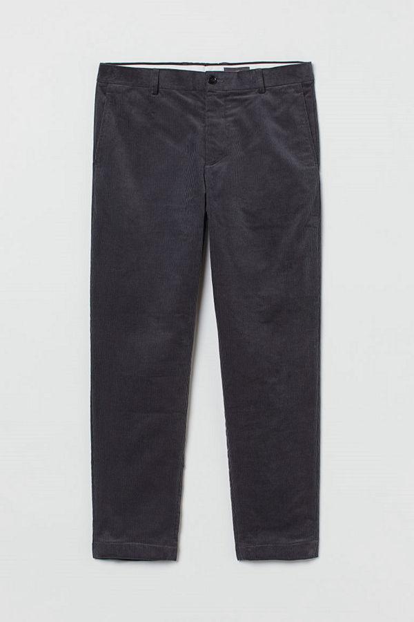H&M Manchesterbyxa Regular Fit grå