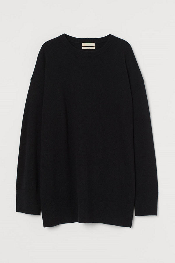 H&M Oversized tröja i kashmir svart
