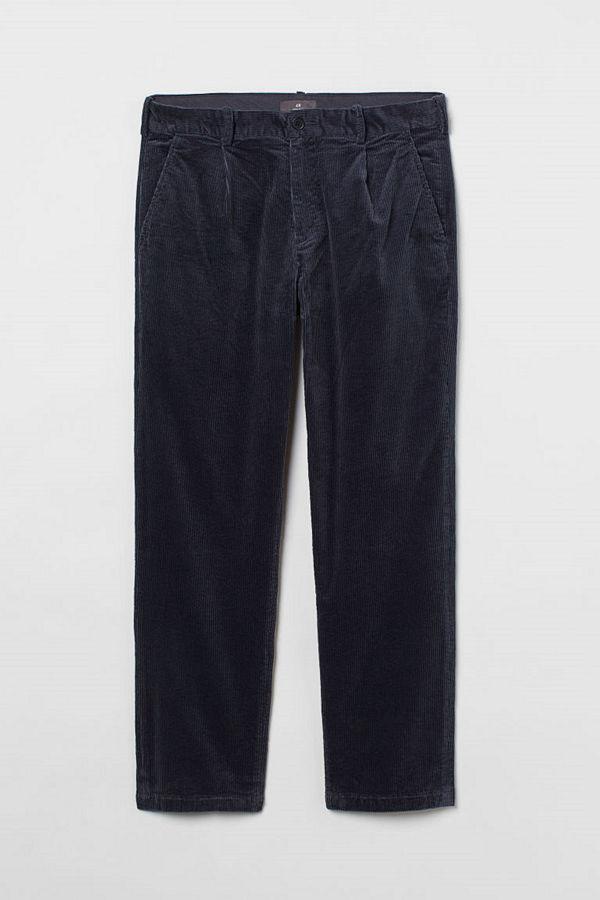 H&M Manchesterbyxa Regular Fit blå