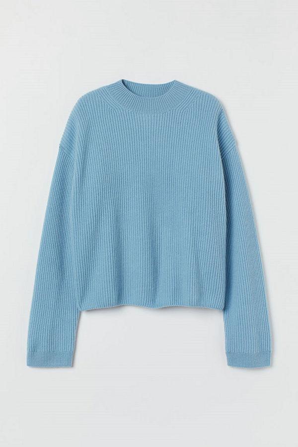 H&M Tröja i kashmir blå