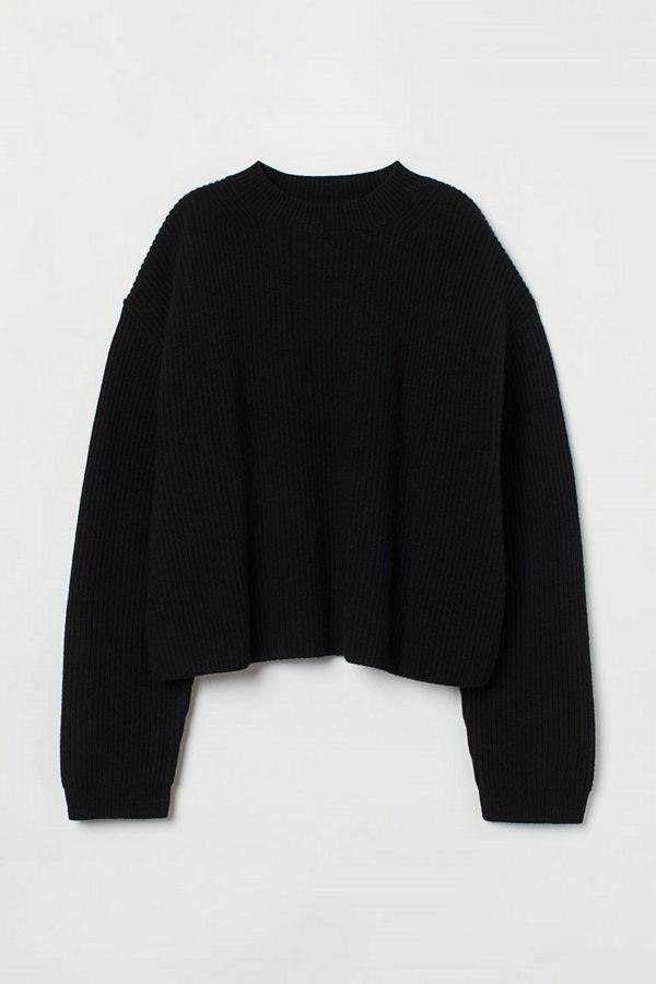 H&M Tröja i kashmir svart