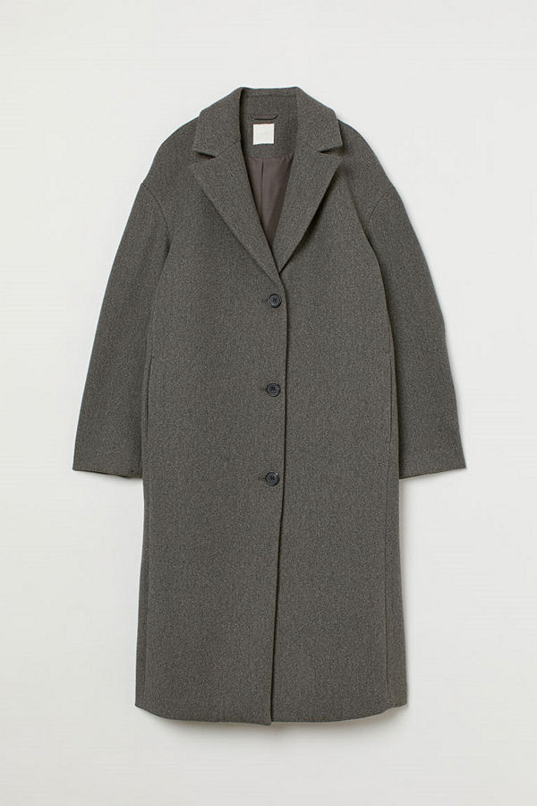 H&M Rak kappa grå