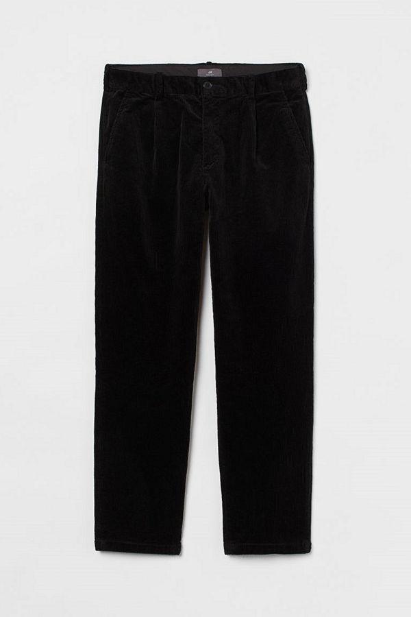 H&M Manchesterbyxa Regular Fit svart