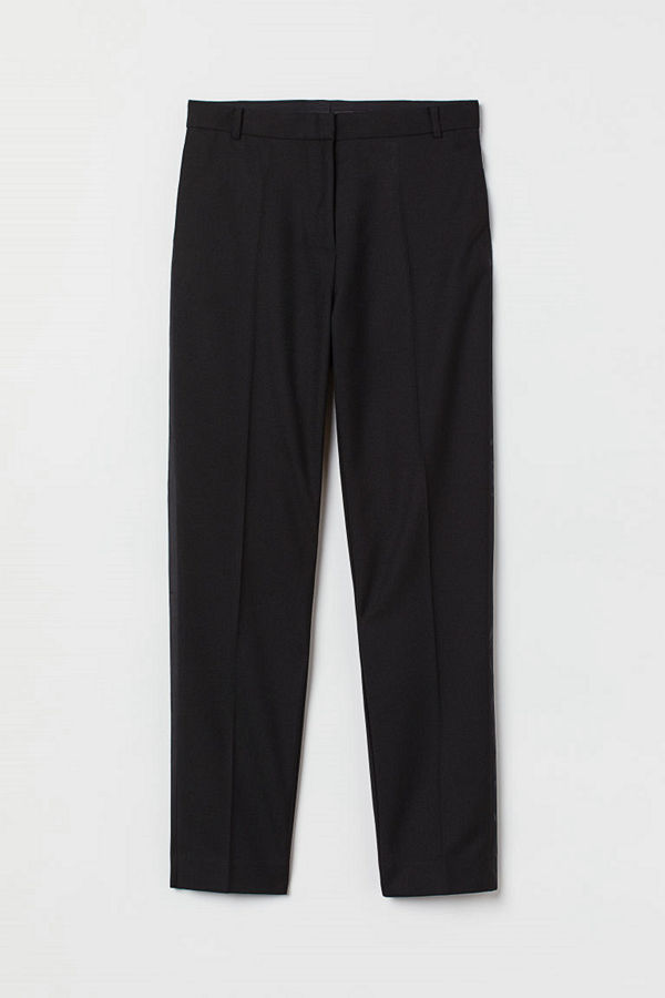 H&M byxor Byxa med revärer svart