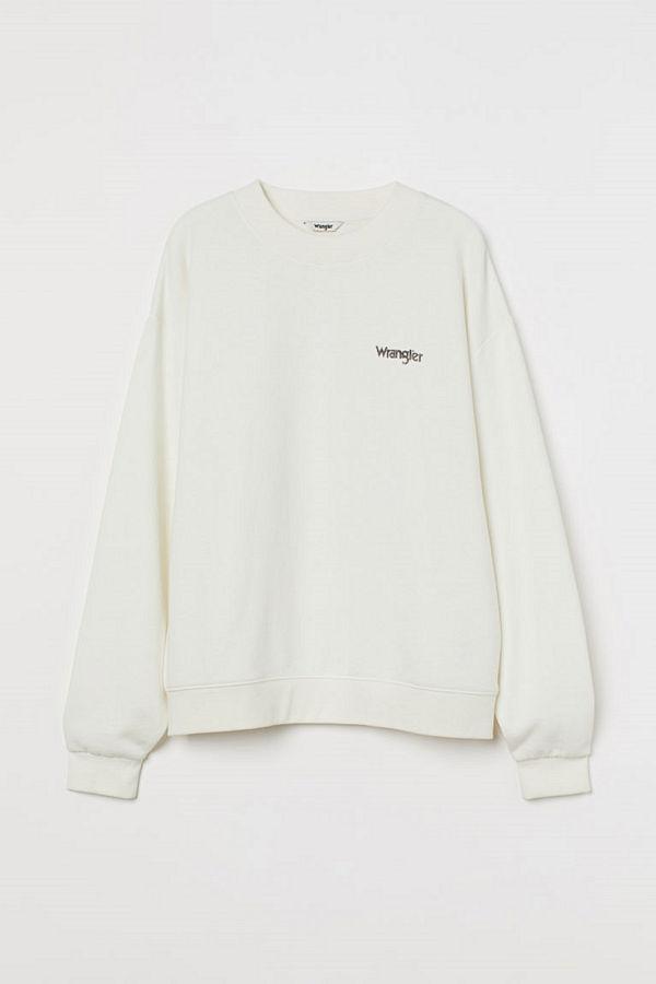 H&M Retro look sweatshirt vit