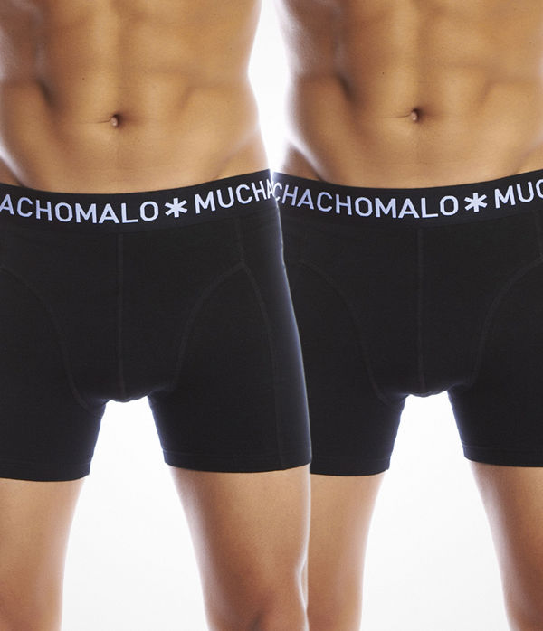 Muchachomalo 2-pack Solid Boxer Black