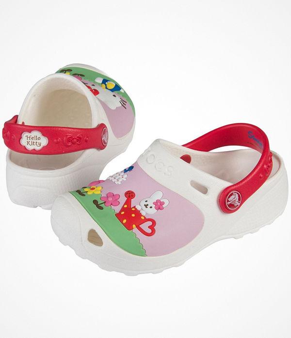 Crocs Hello Kitty Custom Kids White Pattern-2