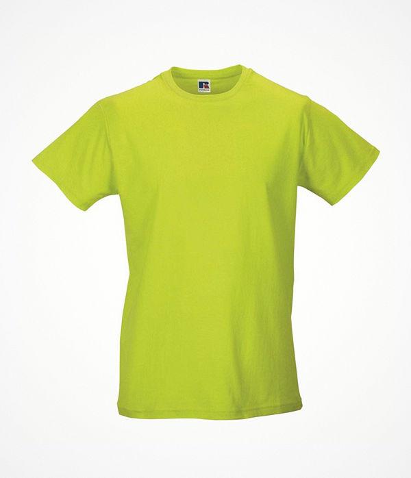 Russell Mens Slim Fit T Light green