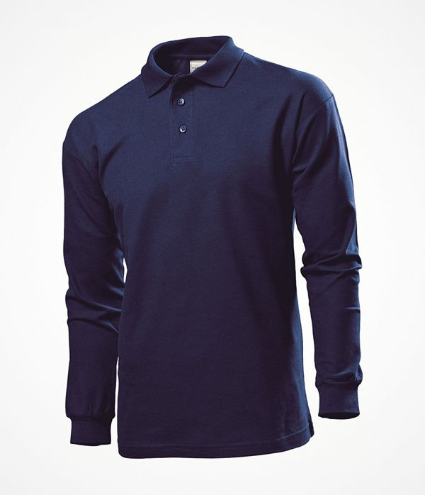 Stedman Polo Long Sleeve Men Navy-2