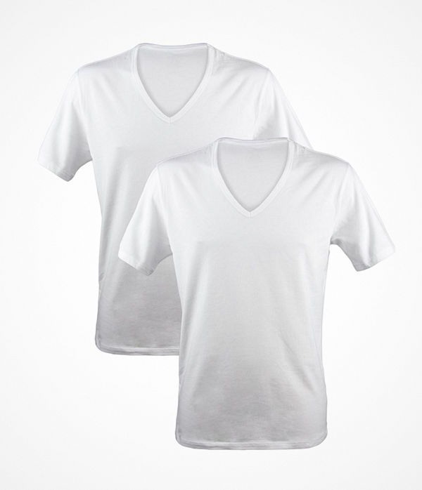 Calvin Klein 2-pack Modern Cotton Stretch V-neck White
