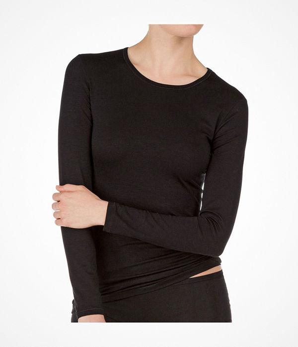 Calida Balance Shirt Long-Sleeve  Black