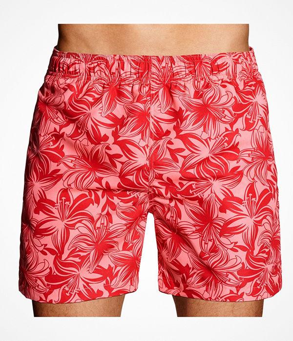 Gant Lily Swim Shorts Red Pattern-2