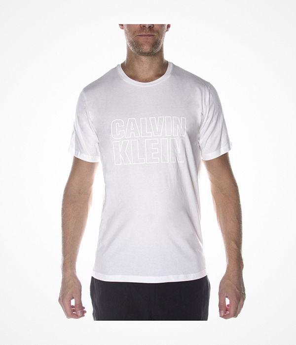 Calvin Klein Logo Tee Short Sleeve Crew Neck White
