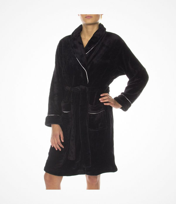 Missya Tula Short Fleece Robe Black - Morgonrockar online ... 080769f00