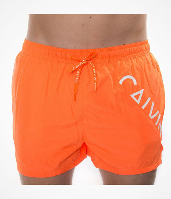 Calvin Klein Core Diagonal Logo Short Drawstring Orange