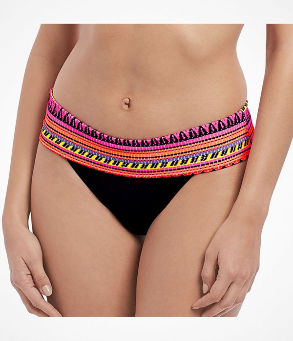 Freya Way Out West Sunset Classic Fold Brief Black pattern-2