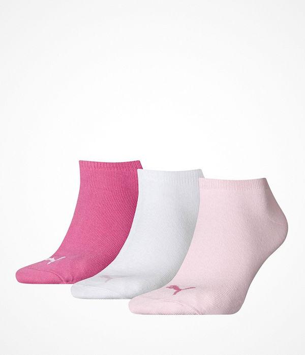 Puma 3-pack Sneaker Socks Pink/White