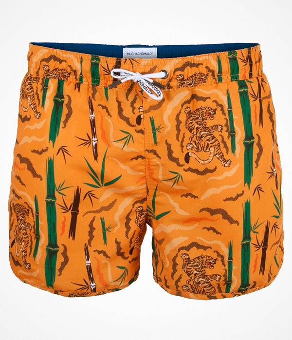 Muchachomalo Swim Tiger Wood Boardshort Orange patterned