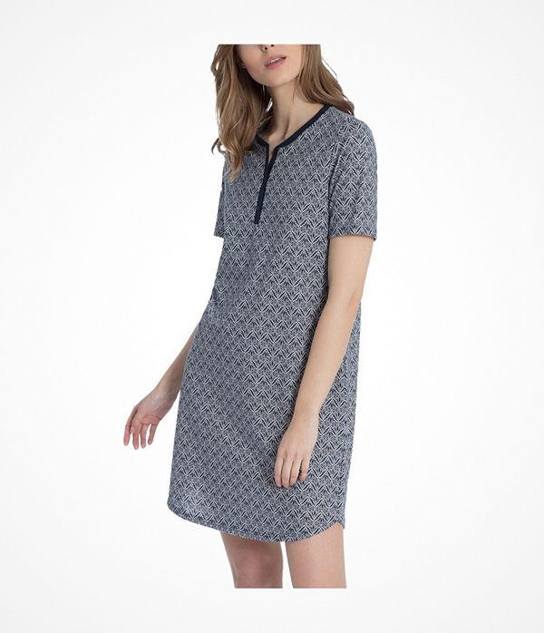 Calida Enya Sleepshirt  Blue Pattern