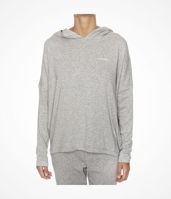 Calvin Klein Form LS Hoodie Grey