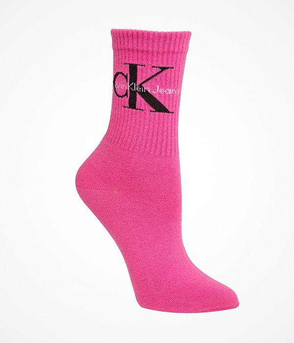 Calvin Klein Bowery Logo Short Crew Socks Pink