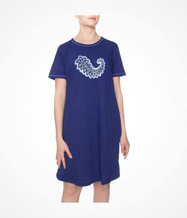 Damella Paisley Print Nightdress Darkblue