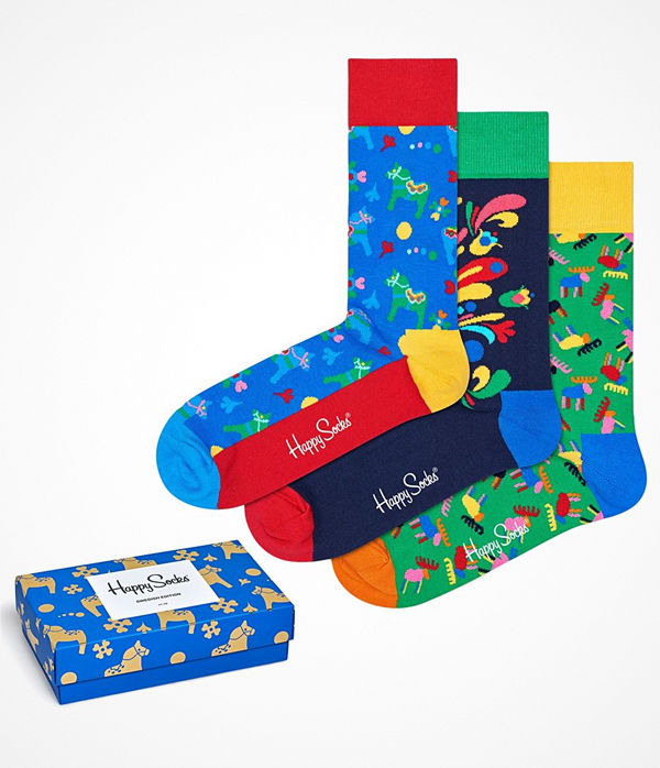 Happy Socks 3-pack Happy Socks Swedish Edition Gift Box Multi-colour