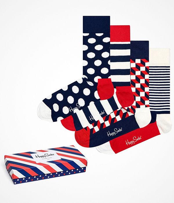 Happy Socks 4-pack Happy Socks Stripe Socks Gift Box Multi-colour