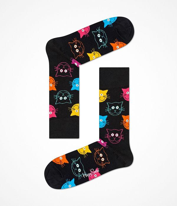 Happy Socks Happy Socks Cat Sock Black pattern-2