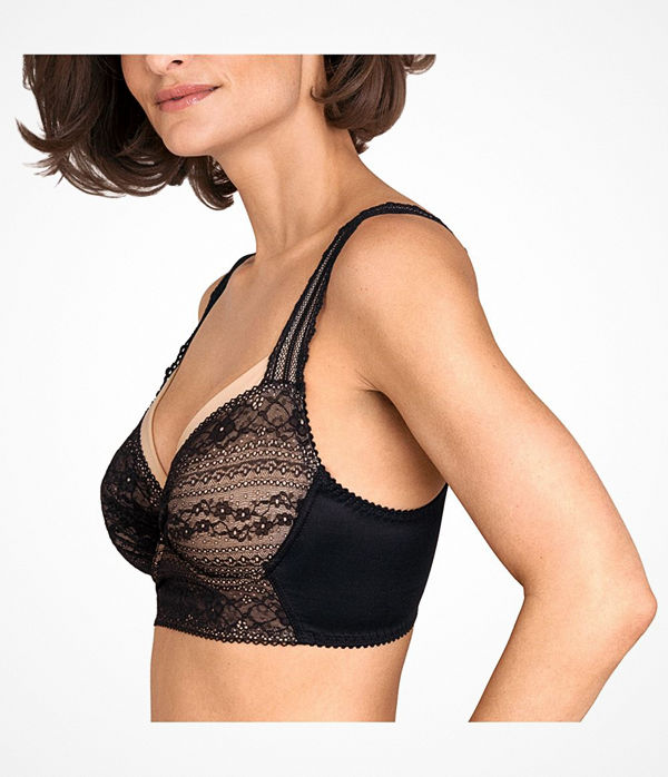 Miss Mary of Sweden Miss Mary Lace Vision Underwire Bra Black