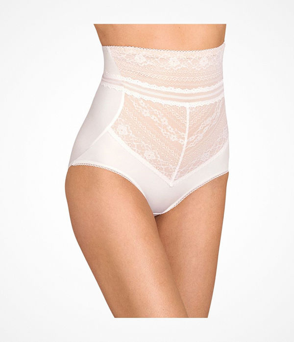 Miss Mary of Sweden Miss Mary Lace Vision High Waist Panty Girdle White