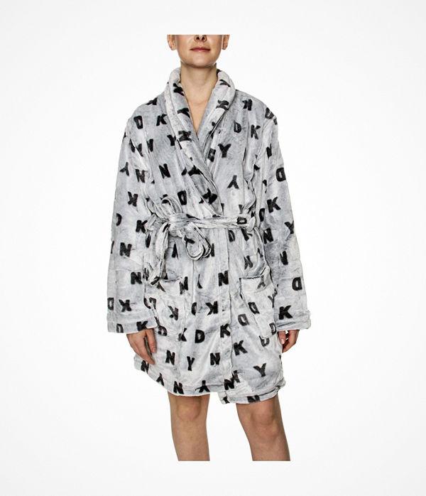 DKNY Signature Robe LS Folded Grey