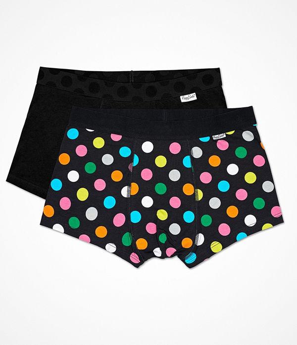 Happy Socks 2-pack Happy Socks Big Dot Trunks Black