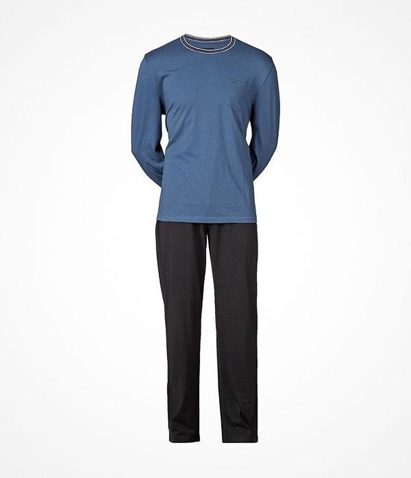 JBS Långärmad Pyjamas 130 Blue