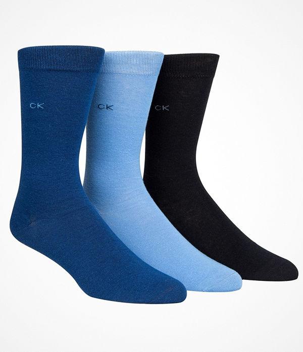 Calvin Klein 3-pack Maddox Flat Knit Socks Gift Box Navy/Blue