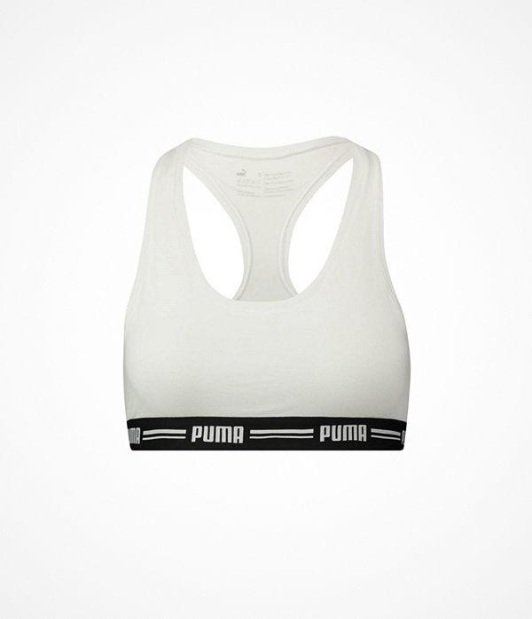 Puma Iconic Racer Back Bra White