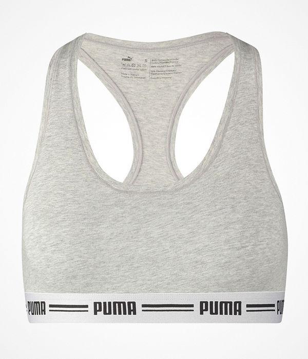 Puma Iconic Racer Back Bra Grey