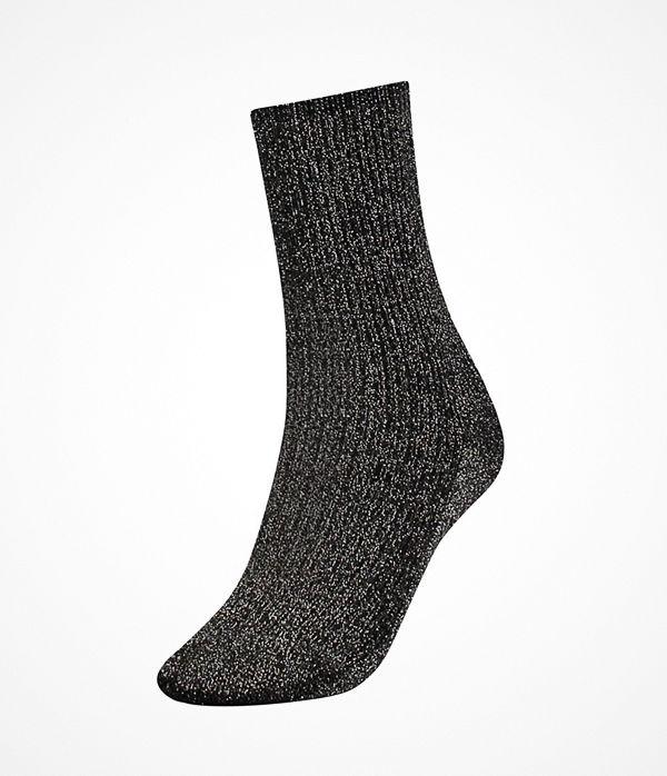 Tommy Hilfiger Women Glitter Sock Black