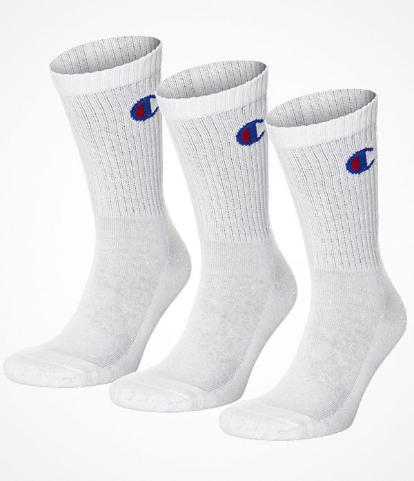Champion 3-pack 3PP Crew Socks White