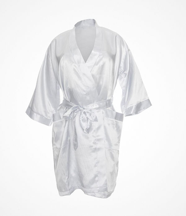 Damella Satin Robe Ivory