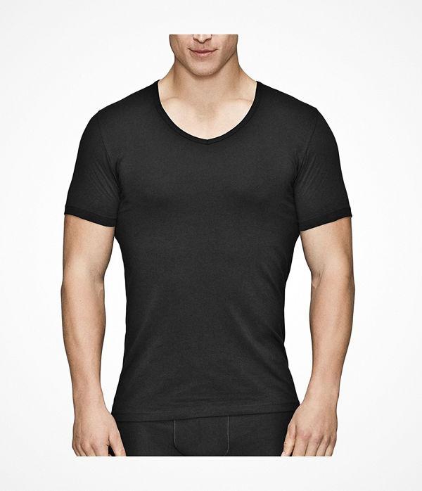 JBS of Denmark Organic Cotton V-neck T-shirt Black