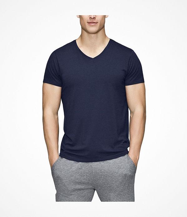 JBS of Denmark Bamboo Blend V-neck T-shirt Darkblue